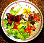 Click here to enlarge image and see more about item BUTTER8: 1988 RED ADMIRAL  BUTTERFLY GARDEN PAUL J. SWEANY