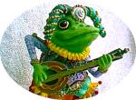 Click to view larger image of Camelot Frogs Jumping Jester by Artist Steve Kehrli 1 in series of 12 MINT (Image1)