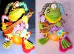 Click to view larger image of Camelot Frogs Jumping Jester by Artist Steve Kehrli 1 in series of 12 MINT (Image3)