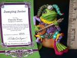 Click to view larger image of Camelot Frogs Jumping Jester by Artist Steve Kehrli 1 in series of 12 MINT (Image5)
