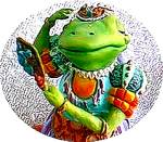 Click to view larger image of Camelot Frogs Lady of The Lily Pad by Artist Steve Kehrli 1 in series of 12 MINT (Image1)
