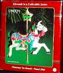 Click here to enlarge image and see more about item CARL114: AMERICAN GREETINGS CHRISTMAS GO ROUND CAROUSEL HORSE #CXOR-104C AGC DATED 2000 #11
