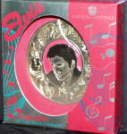 Click here to enlarge image and see more about item CARL12: 1995 GOLD PLATED HEAD OF ELVIS - AMERICAN GREETINGS