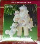 Click to view larger image of 01 SANTA'S HOLIDAY BEST #3 55 CXOR-110E Attire Brocade Cap Emboss Boots White Dog Cat (Image2)