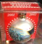 OPERATION SANTA GERMANY 2001/2002 BALL ORNAMENT Schloss Neuschwanstein US German Flag
