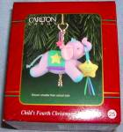 CXOR-037Y #25 CARLTON CARDS CHRISTMAS ORNAMENT 1998 CHILD'S MY FOURTH 4TH ELEPHANT