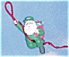 Click to view larger image of 2001 MMORN-1016E HOLIDAY MISSION 6th Anniv. Rapelling Santa Green Fatigues AAFES BDUs (Image2)