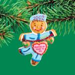 Click here to enlarge image and see more about item CARL64: 2002 MMORN-005G CUT OUT FOR CHRISTMAS DUTY 7th Anniv. Operation Santa Gingerbread Man