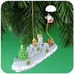 Click here to enlarge image and see more about item CARL68: 2001 MMORN-1002E CHRISTMAS AT SEA 6TH IN SERIES OPERATION SANTA Parachute Navy