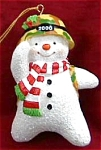 Click here to enlarge image and see more about item CARL89: 00 MMORN1005 MERRY CHRISTMAS,SIR Camo Army Snowman Saluting 5th Anniversary Operation