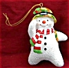Click to view larger image of 00 MMORN1005 MERRY CHRISTMAS,SIR Camo Army Snowman Saluting 5th Anniversary Operation (Image2)