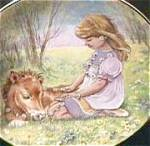 Click here to enlarge image and see more about item CB1: SUNDAY'S CHILD A CHILD'S BLESSING Cooper Is Bonny Blithe Good Gay Girl Pony CrownWare