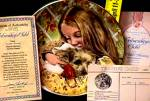 Click to view larger image of WEDNESDAY'S CHILD A Child's Blessing Cooper CrownWare Hamilton Girl Puppy ROYAL WORCE (Image2)