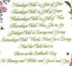Click to view larger image of Mondays's Child A Child's Blessing Pam Cooper CrownWare Hamilton Royal Worcester folk (Image2)