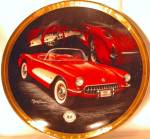 Click here to enlarge image and see more about item CCP1: 1957 CORVETTE M. Lacourciere Classic Corvettes '57 Red Int White Cove 2-Tone Roadster