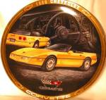 Click here to enlarge image and see more about item CCP3: 1986 CORVETTE Marc Lacourciere Classic Corvettes '86 Yellow Vettes Convertible COA 23