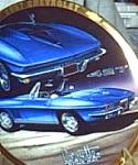Click here to enlarge image and see more about item CCP4: 1967 CORVETTE Marc Lacourcier Classic Corvettes 67 Marina Blue Sting Ray 427 Roadster