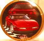 1990 CORVETTE ZR-1 Marc Lacourciere Classic Corvettes '90 RED Maroon Saddle Interior