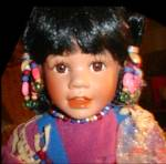 Click to view larger image of Laura COBABE Indian DESERT BLOOM Kid Indian Native American Girl 1994 Cactus KC1MB 10 (Image1)