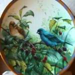 Click to view larger image of Lenox Collector Plate Indigo Evening NIB '94 Natures Collage Collection Nature's Bird (Image3)