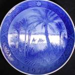 Click here to enlarge image and see more about item COPENHAGEN1: Royal Copenhagen Christmas plate 1972 In the Desert Three 3 wisemen Wise Men Magi Kai