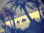 Click to view larger image of Royal Copenhagen Christmas plate 1972 In the Desert Three 3 wisemen Wise Men Magi Kai (Image2)