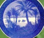 Click to view larger image of Royal Copenhagen Christmas plate 1972 In the Desert Three 3 wisemen Wise Men Magi Kai (Image6)