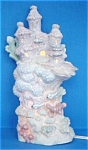 Click here to enlarge image and see more about item CORAL23: ENESCO CORAL KINGDOM CASTLE NIGHTLIGHT NIGHT LIGHT NITE #5333130 Box Bulb 9 inch 1994