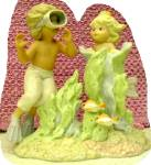 PEEK-A-BOO I SEE YOU #901946 CORAL KINGDOM Mermaid Tropical Series 6 inch Enesco 1993