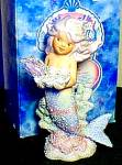 Click here to enlarge image and see more about item CORAL35: SHELLY CORAL KINGDOM Mermaid Tropical Series #533106 Enesco Shimmer Stone HAMILTON 93