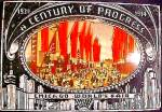 1934 CHICAGO CENTURY OF PROGRESS Main Street PLAQUE SEARS Roebuck Tower