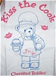 Click here to enlarge image and see more about item CT7: Dennis Barbeque Event Kiss The Cook 1999 Apron CRT707 NMIP NRFP Cherished Teddies