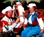 Click here to enlarge image and see more about item CTV1: ROY ROGERS & DALE EVANS Classic TV Westerns Fifties 50's Milnazik Trigger