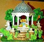 Click to view larger image of Cherished Teddies Village : The Wedding Gazebo Teddie P. Hillman Mail-Order Hamilton (Image1)