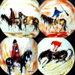 Click to view larger image of #3 APACHE SCOUT Western Ted Degrazia Indian Horse Bradford Bradex 84-F4-30.3 Fairmont (Image4)