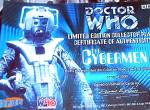 Click to view larger image of The Doctor Who Dr. #4 CYBERMEN Series L. E. Collectors Plate Cards Inc. Chararacters (Image2)