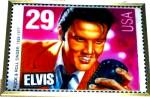 Click here to enlarge image and see more about item ELVIS11: #8040 ELVIS STAINED GLASS GUILD Rock & Roll STAMP Glassmasters Richmond Virginia