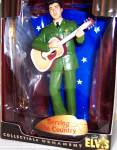 Click here to enlarge image and see more about item ELVIS2: ELVIS PRESLEY SERVING THE COUNTRY BOXED ORNAMENT Trevco Action Performance EPE 2003