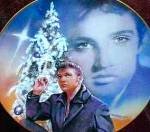 Click here to enlarge image and see more about item ELVISP1: 1992 BRADEX DELPHI ELVIS HIT PARADE BLUE XMAS