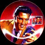 Click here to enlarge image and see more about item ELVISP2: BRADEX DELPHI ELVIS ROCK & ROLL LEGEND STAMP
