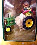 Click here to enlarge image and see more about item ENESCO1: 1998 #2 JOHN DEERE MODEL B 1935-1952 Tractor Holiday Greetings MRS.CLAUS #474797 Deal