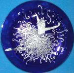 Art Deco APPLAUSE Erte 7 SevenArts Cobalt Blue Deco Romain d'Tirtoff Dancer Ballet RT