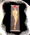 Click to view larger image of NUMBER 1 #A3201 12 in Erte Mikasa Japan bone china Numeral 1987 MIB Romain De Tirtoff (Image1)