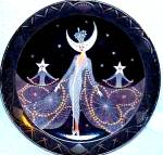 Click to view larger image of Queen of the Night Franklin Mint Royal Doulton House Erte Sevenarts Art Deco (Image2)