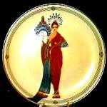 Click here to enlarge image and see more about item ERTE8: '93 Athena House Of Erte Sevenarts 7 Art Deco Franklin Elegance Romain d'Tirtoff