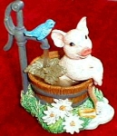 Click to view larger image of '98 Farm Livin' Squeaky Clean piggy & Bluejay (Image1)