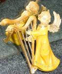 Click to view larger image of Fontanini SWEET HARMONY Harp Angel Non Club Italy Version E. Simonetti Wood Tone (Image2)