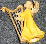 Click to view larger image of Fontanini SWEET HARMONY Harp Angel Non Club Italy Version E. Simonetti Wood Tone (Image3)