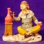 Click to view larger image of 5 inch #75504 Man Painting Pot Potter Signed by Marco Fontanini Heirloom Nativity '98 (Image1)