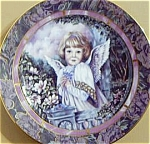Click here to enlarge image and see more about item GARDEN3: GARDENS OF INNOCENCE COMPASSION Angel Donna Richardson Bradex 84-B10-10.10 Blue birds